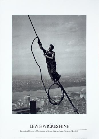Icarus Atop Empire State Art Print