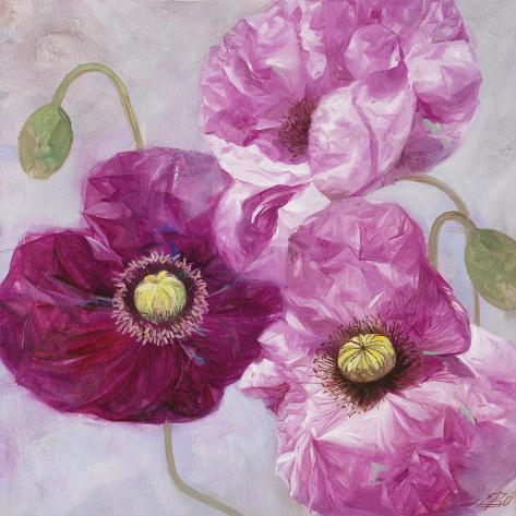 Purple poppies i giclee print by li bo at allposters purple poppies i mightylinksfo