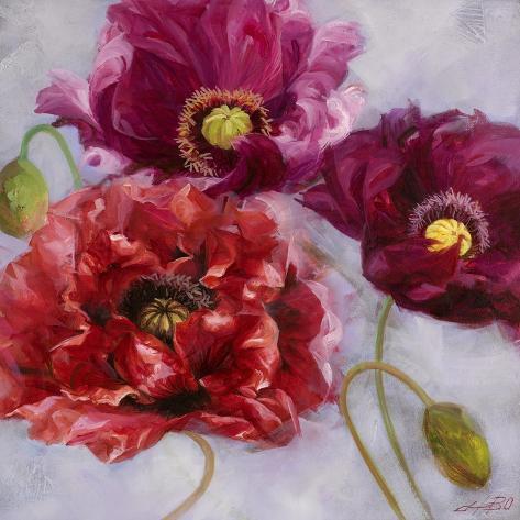 purple poppies ii giclee print by li bo allposters co uk