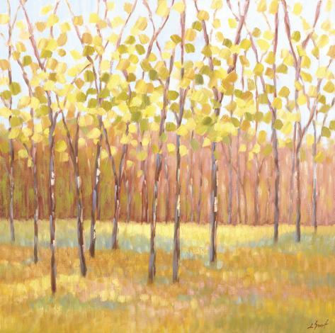 Yellow and Green Trees (center) Impressão artística