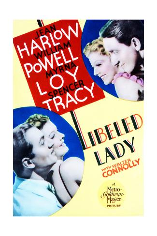 Libeled Lady - Movie Poster Reproduction Art Print