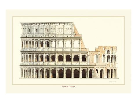 Roma, Il Colosseo Premium Giclee Print