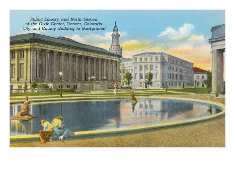 Library and Civic Center, Denver, Colorado Art Print