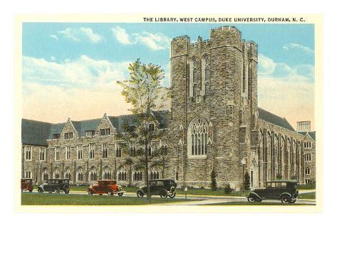 Library, Duke University, Durham, North Carolina Art Print