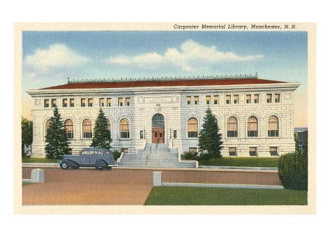 Library, Manchester, New Hampshire Art Print