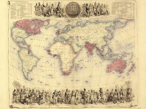 British empire world map 19th century lmina fotogrfica por british empire world map 19th century lmina fotogrfica gumiabroncs Choice Image