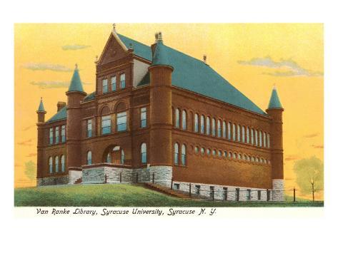 Library, Syracuse University, New York Art Print
