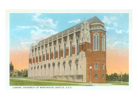 Library, University of Washington, Seattle Art Print