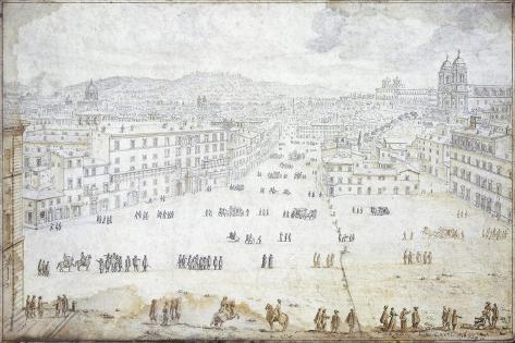 Piazza Di Spagna in Rome Giclee Print
