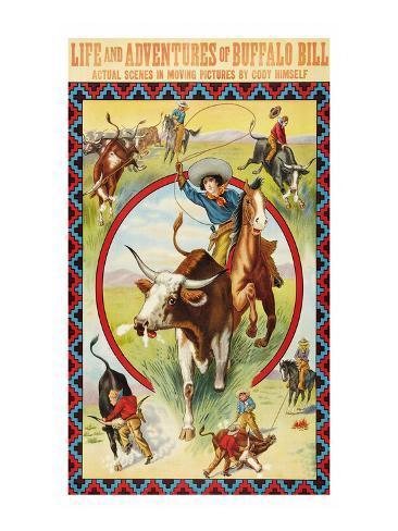 Life and Adventures of Buffalo Bill Art Print