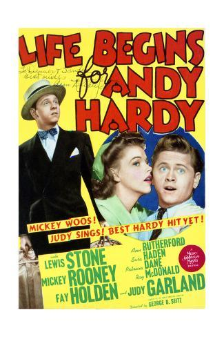 Life Begins for Andy Hardy - Movie Poster Reproduction Art Print