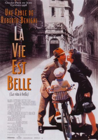 Life is Beautiful - French Style Poster