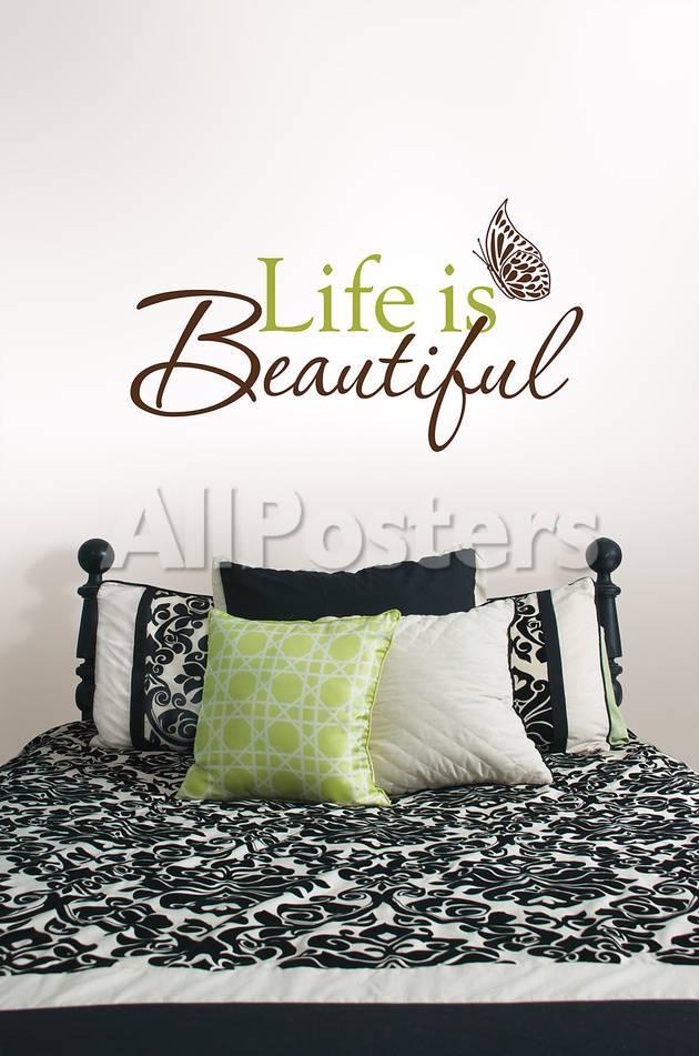Life Is Beautiful Wall Art Kit Wall Decal At Allposterscom