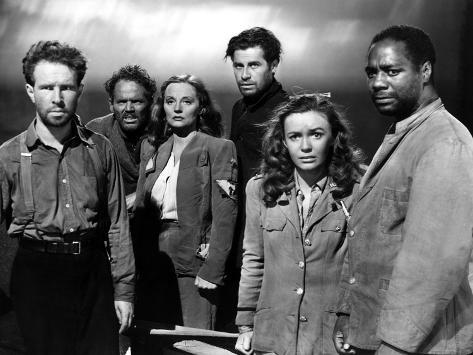 Lifeboat, Hume Cronyn, Henry Hull, Tallulah Bankhead, John Hodiak, Mary Anderson, Canada Lee, 1944 Stretched Canvas Print
