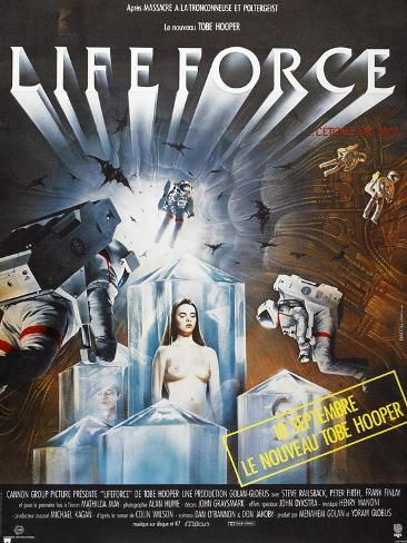 Lifeforce, French poster, 1985. © Cannon Films/courtesy Everett Collection Art Print