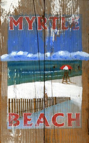 Lifeguard Vintage Wood Sign