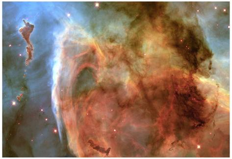 Light and Shadow in the Carina Nebula Space Photo Art Poster Print Poster