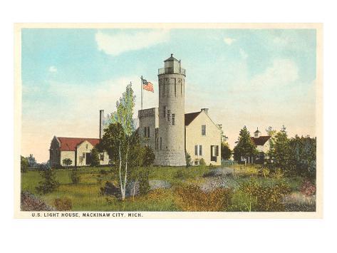 Lighthouse, Mackinaw City, Michigan Art Print