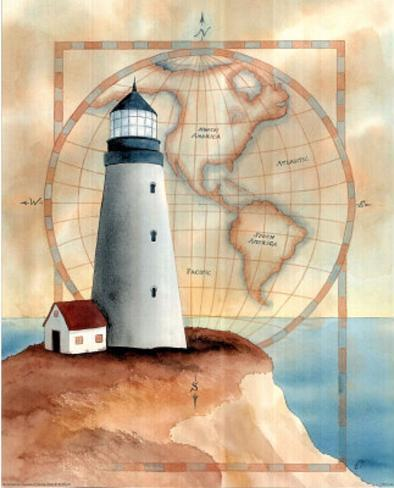 Lighthouse Pacific Ocean Mini Poster