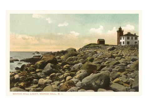 Lighthouse, Watch Hill, Rhode Island Art Print