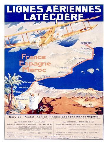 Lignes Aeriennes Latecoere Giclee Print