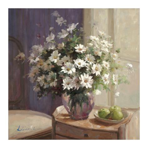 Marguerites Et Pommes Vertes Art Print