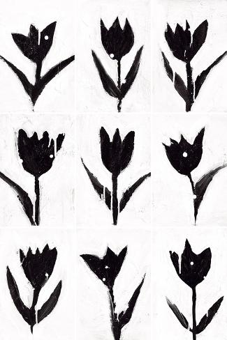 Tulip Noir Composite Art Print