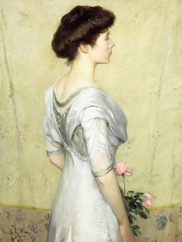 The Pink Rose, 1910 Lámina giclée