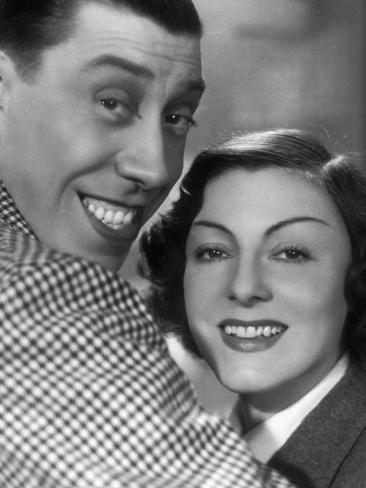 Gaby Morlay and Fernandel: Hercule, 1937 Lámina fotográfica