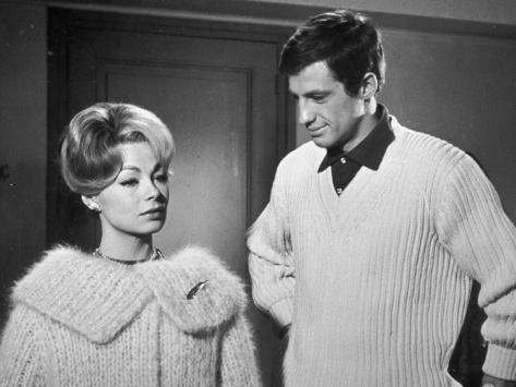Jean-Paul Belmondo and Dany Robin: La Française et L'Amour, 1960 Photographic Print
