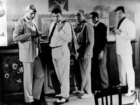 Jean-Paul Belmondo, Lino Ventura and Bernard Blier: 100,000 Dollars Au Soleil, 1964 Stampa fotografica