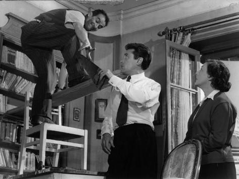Louis De Funès, Robert Lamoureux and Gaby Morlay: Papa, Maman, Ma Femme et Moi, 1956 Impressão fotográfica