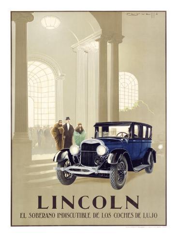 Lincoln Automobile Giclee Print