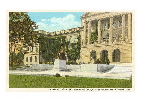 Lincoln Monument, University, Madison, Wisconsin Art Print