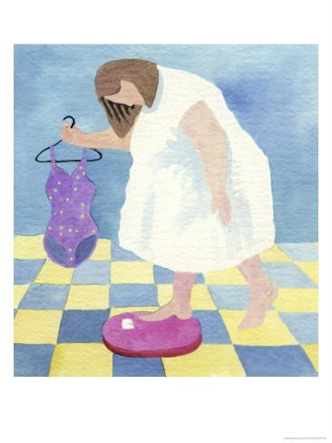 Swimsuit Anxiety Giclee Print