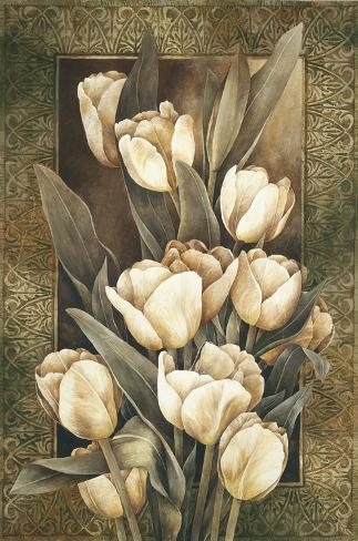 Tulipani dorati Stampa su tela
