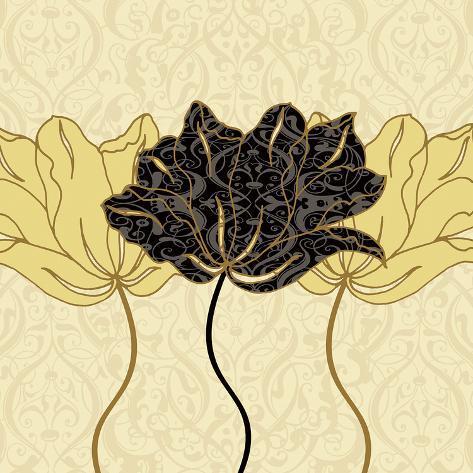 Golden Cluster I Art Print