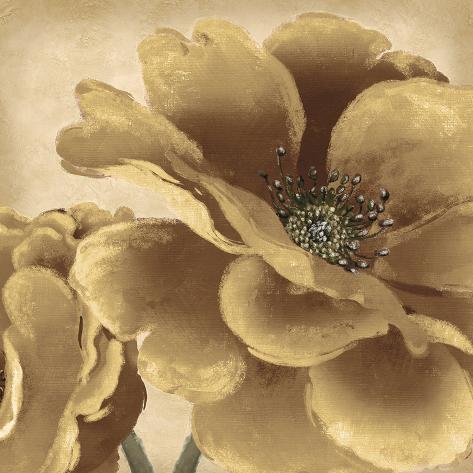 Golden Peony I Giclee Print