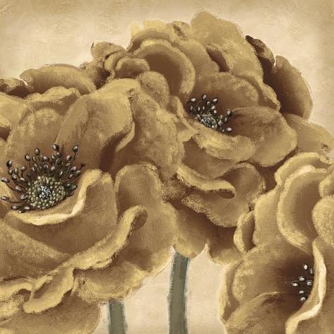 Golden Peony II Giclee Print