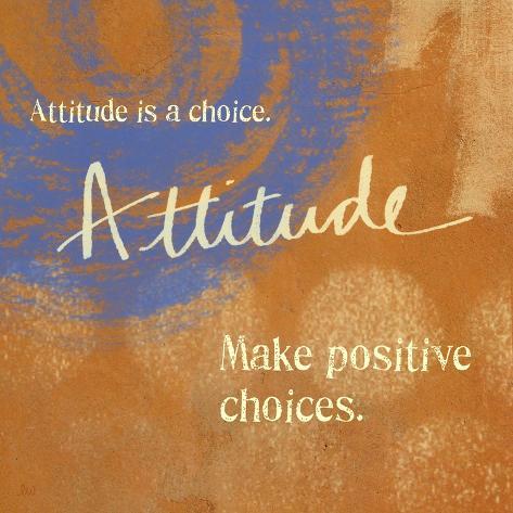 Attitude Art Print