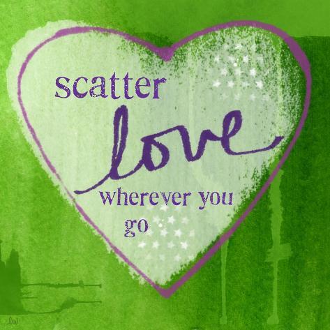 Scatter Love Art Print