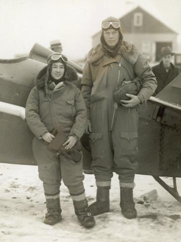 Lindberghs at New York Photographic Print