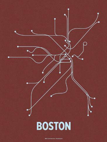 Boston (Maroon & Pale Blue) Serigraph