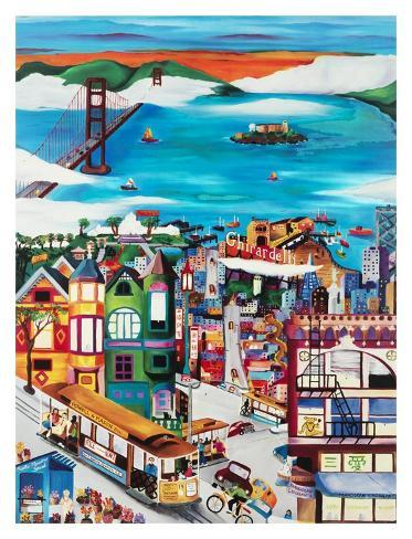 Hills of San Francisco Art Print