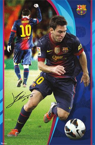 Lionel Messi - FC Barcelona Sports Poster Poster