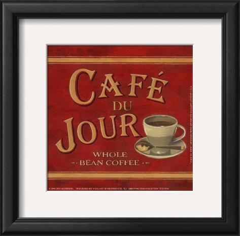 Café du Jour Framed Art Print