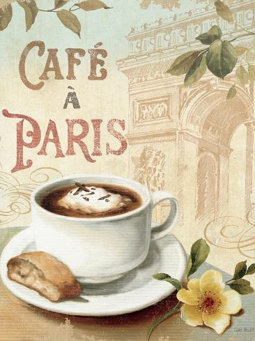 Cafe in Europe I Premium Giclee Print