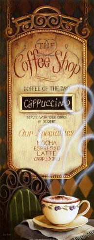 Coffee Shop Menu Art Print