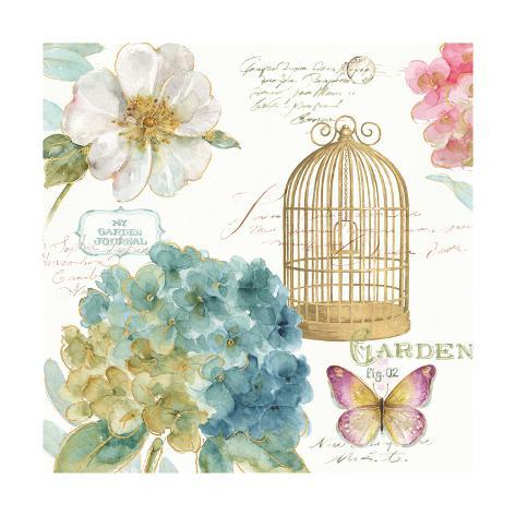 Rainbow Seeds Floral Birdcage III Art Print