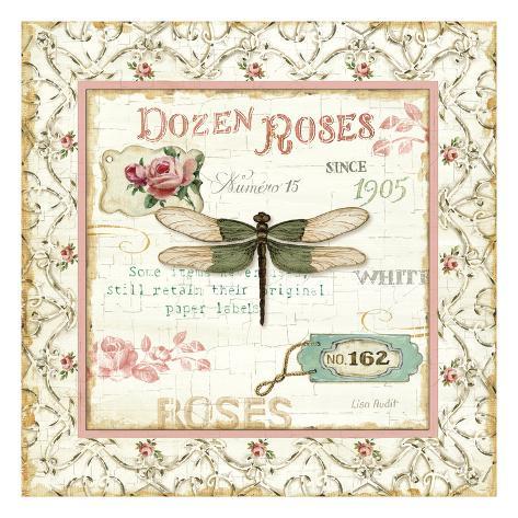 Rose Garden VI Premium Giclee Print
